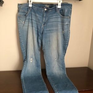 Old Navy Diva medium wash distressed skinny jeans